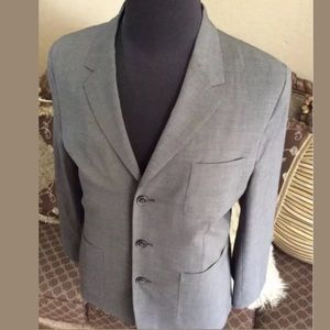 Marc Jacobs gray wool 3 Button jacket 50IT 40 US